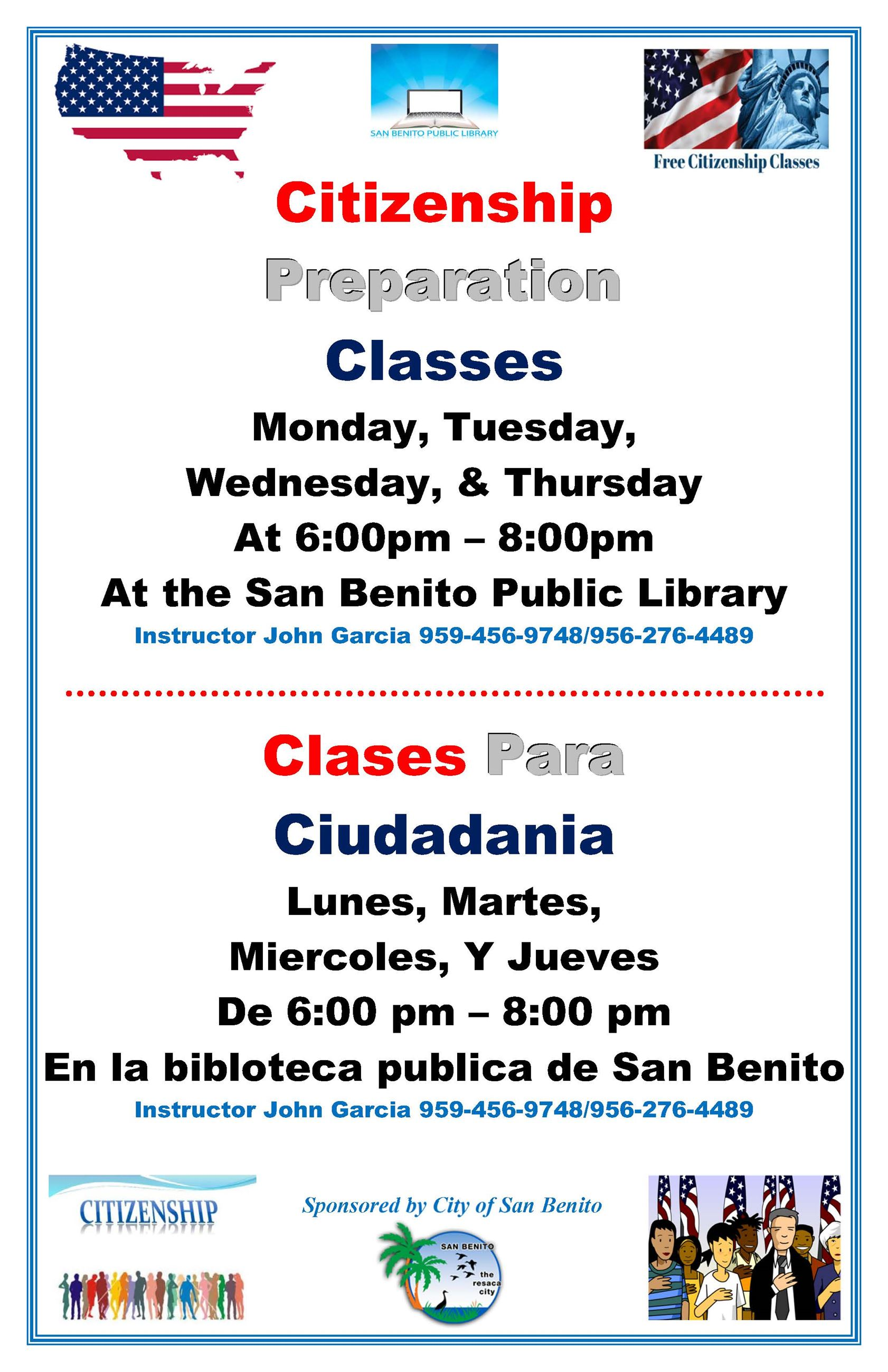 Citizenship Classes Flyer 2019