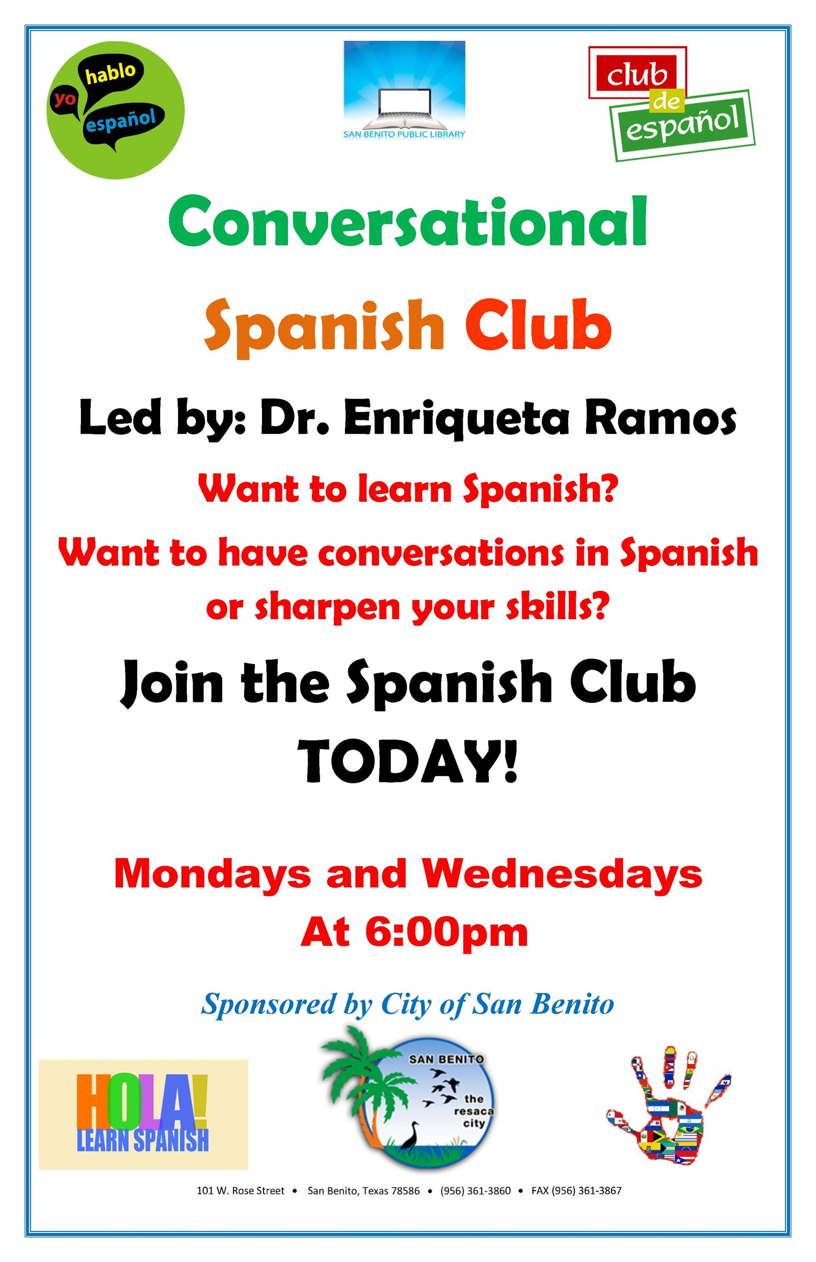 Conversational Spanish Club Flyer