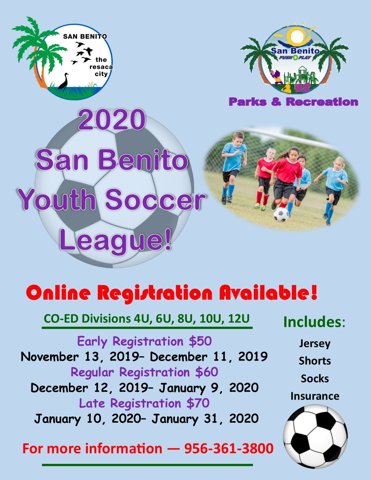 2020 Soccer League Flyer