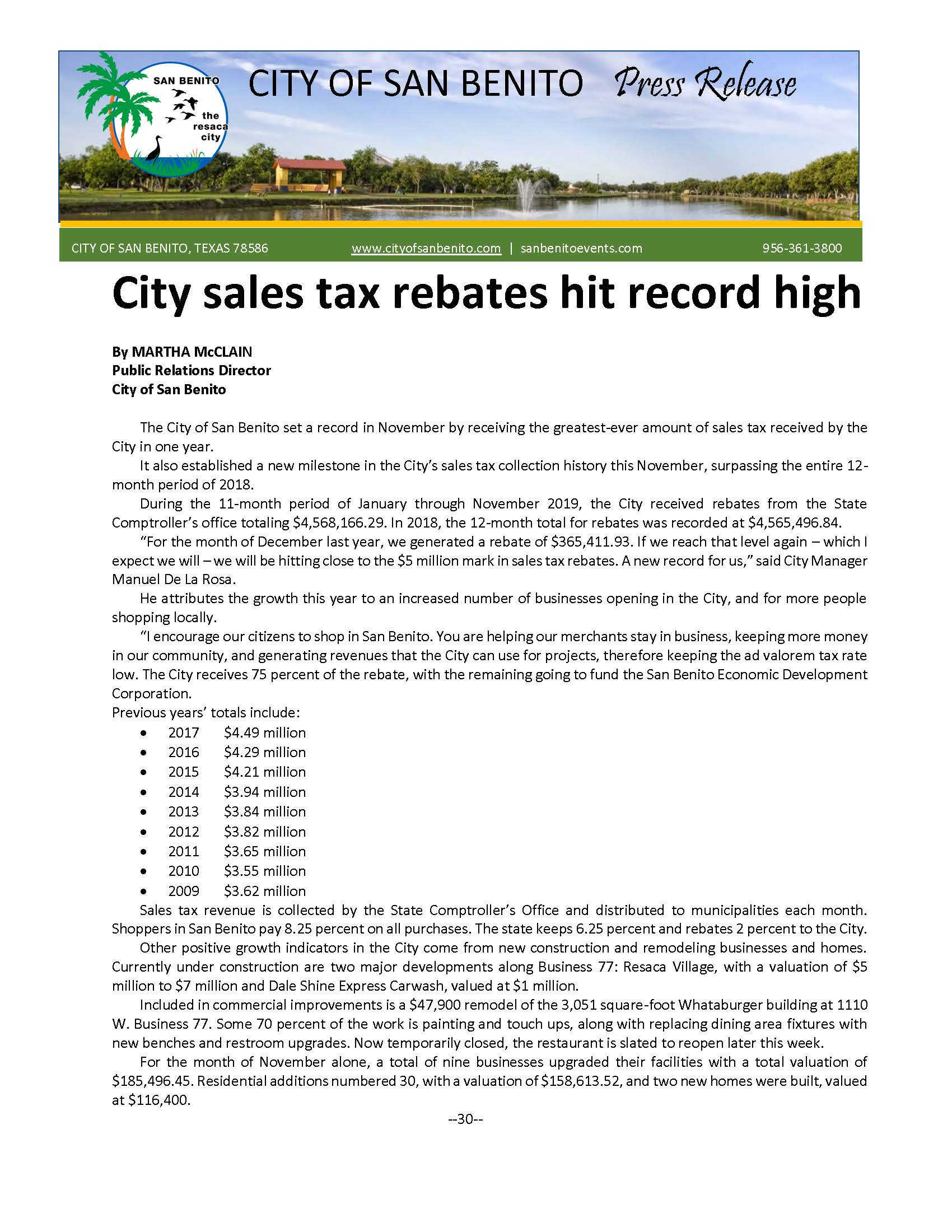 City sales tax rebates hit record high