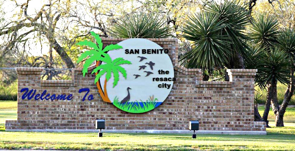 Welcome to San Benito the Resaca City sign