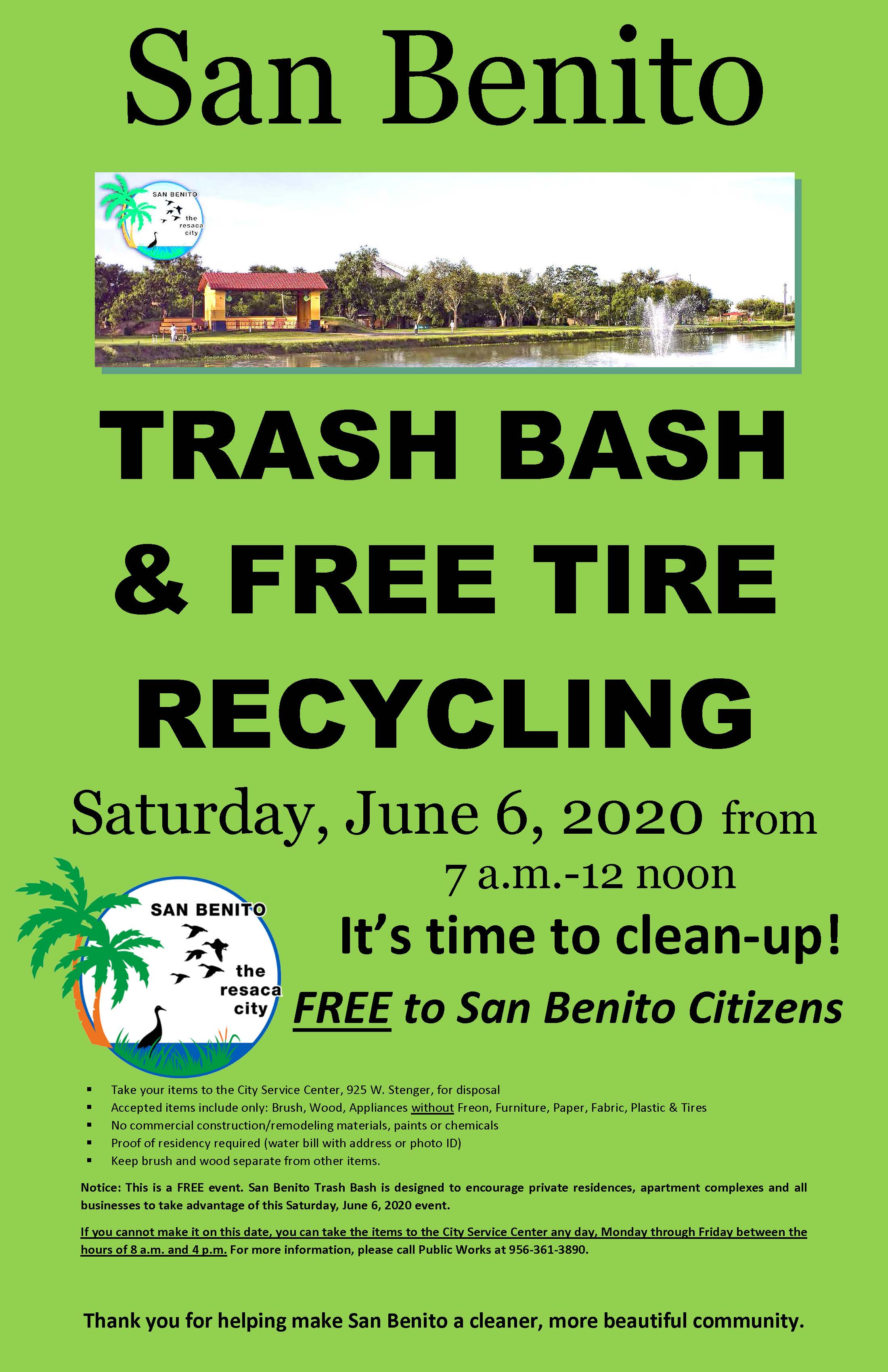 San Benito Trash Bash June 6- 2020
