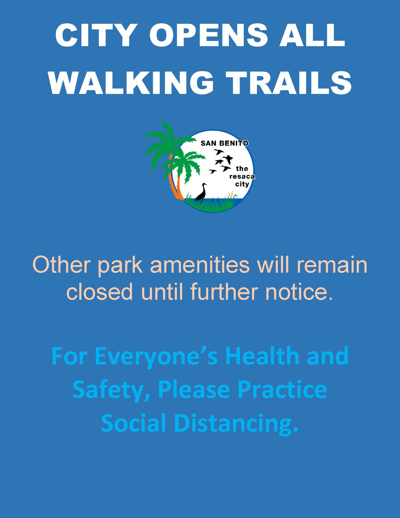 CITY OPENS all walking trails