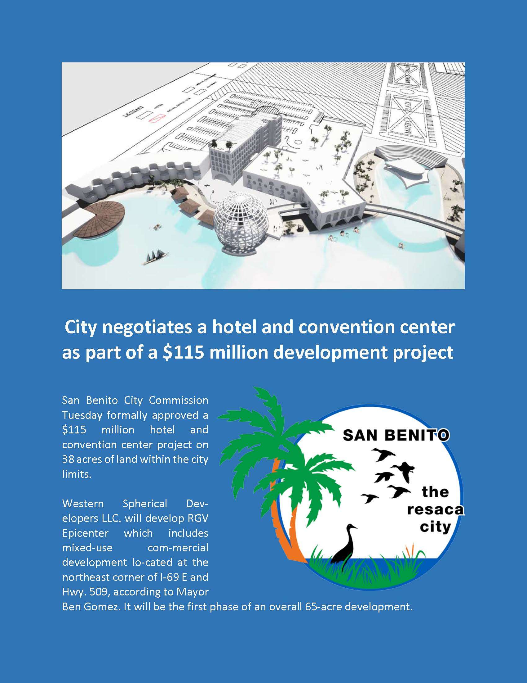 City negotiates a hotel and convention center