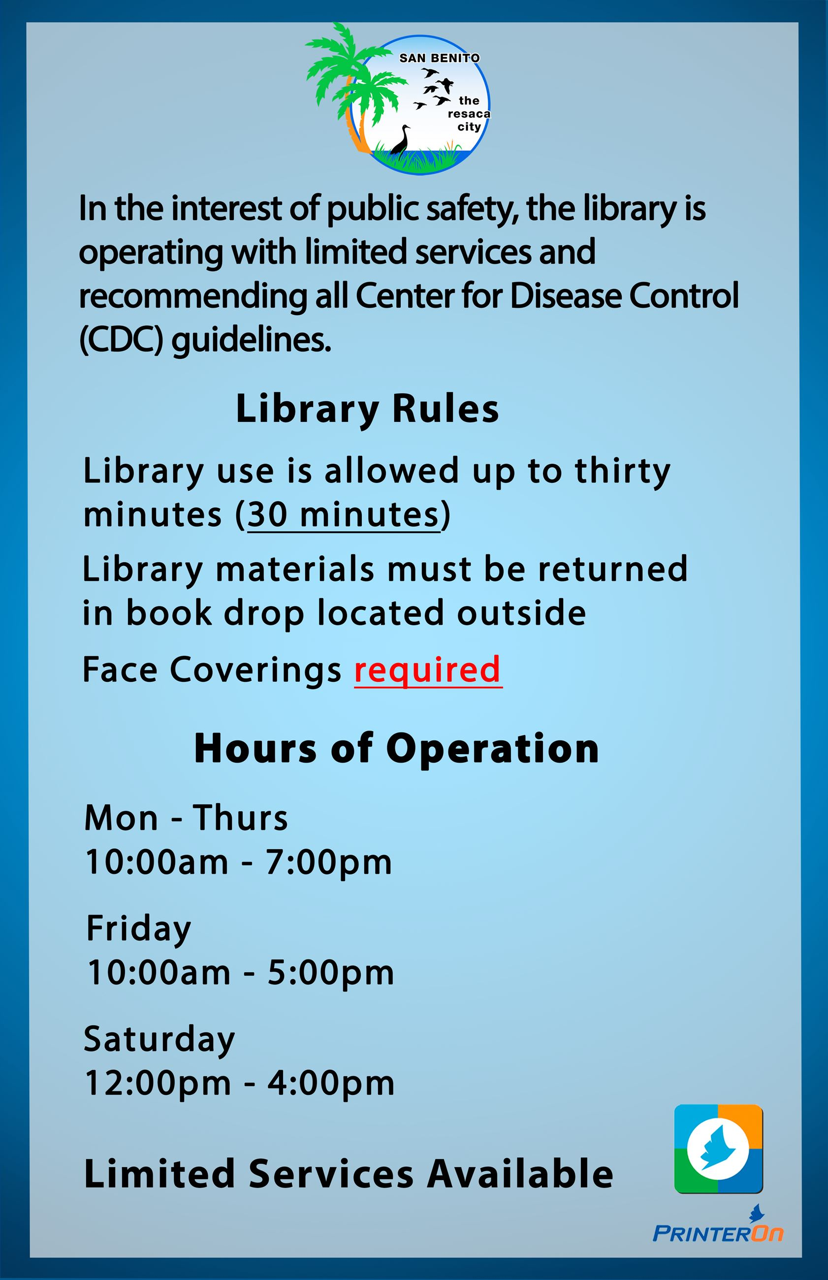 Library new hours covid